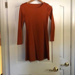 American apparel long sleeve a line dress